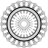 Marco floral abstracto, elementos para el diseño, vector ilustración del vector