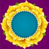 Marco floral amarillo del círculo libre illustration