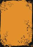 Marco floral anaranjado de Grunge Imagen de archivo