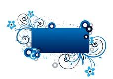Marco floral azul Fotografía de archivo