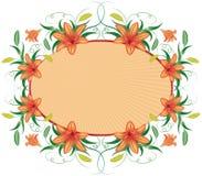 Marco floral con el lirio, vector stock de ilustración