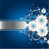 Marco floral con estilo azul Fotografía de archivo libre de regalías
