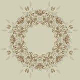 Marco floral con las rosas Imagenes de archivo