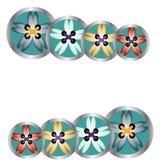 Marco floral de costura de los botones para el negocio de costura Imágenes de archivo libres de regalías
