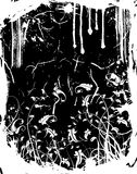 Marco floral de Grunge Imágenes de archivo libres de regalías