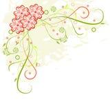 Marco floral de Grunge Imagen de archivo