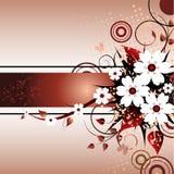 Marco floral de Grunge Fotos de archivo libres de regalías