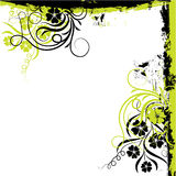 Marco floral de Grunge, vector Foto de archivo libre de regalías