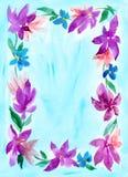 Marco floral de la acuarela Foto de archivo