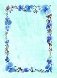 Marco floral de la acuarela Imágenes de archivo libres de regalías