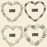 Marco floral de la forma del corazón Imágenes de archivo libres de regalías