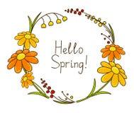 Marco floral de la primavera Fotografía de archivo libre de regalías