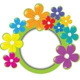 Marco floral de la primavera con el lugar para su texto Fotografía de archivo