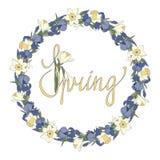 Marco floral de la primavera imagen de archivo libre de regalías