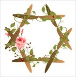 Marco floral de la vendimia Foto de archivo