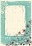 Marco floral de la vendimia Imagen de archivo