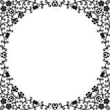Marco floral de la vendimia Fotos de archivo