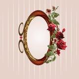 Marco floral de la vendimia Foto de archivo libre de regalías