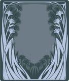 Marco floral de la vendimia stock de ilustración