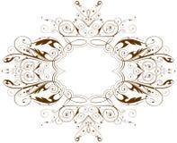 Marco floral de la vendimia del vector Imagen de archivo