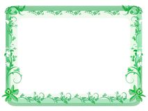 Marco floral de la vendimia - verde Fotos de archivo libres de regalías