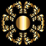 Marco floral de oro Fotografía de archivo libre de regalías