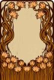 Marco floral del art déco stock de ilustración