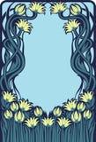 Marco floral del art déco ilustración del vector