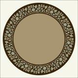 Marco floral del círculo del emir Imagen de archivo libre de regalías