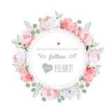 Marco floral del diseño del vector de la boda delicada libre illustration