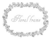 Marco floral del esquema Imagen de archivo