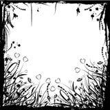 Marco floral del grunge de la tarjeta del día de San Valentín, vector Fotos de archivo