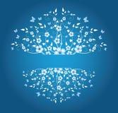 Marco floral del invierno Imágenes de archivo libres de regalías