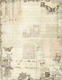 Marco floral del libro de recuerdos de la vendimia botánica Imagen de archivo