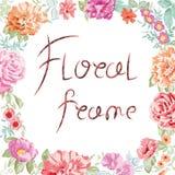 Marco floral del vector Imagenes de archivo