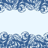 Marco floral delicado Imagenes de archivo
