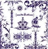 Marco floral - elementos Imagenes de archivo