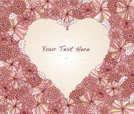 Marco floral en forma de corazón Fotografía de archivo libre de regalías