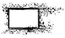 Marco floral entintado para su texto o cuadros Fotos de archivo