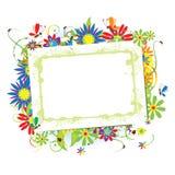 Marco floral hermoso con el lugar para su texto Fotos de archivo