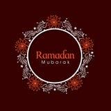 Marco floral hermoso para la celebración de Ramadan Kareem Imágenes de archivo libres de regalías