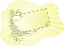 Marco floral para el texto Fotos de archivo libres de regalías