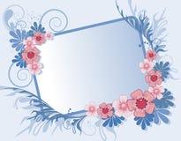 Marco floral para el texto Imagen de archivo libre de regalías