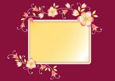 Marco floral para el texto Fotos de archivo