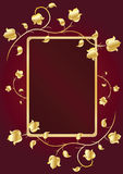 Marco floral para el texto. Imagen de archivo libre de regalías