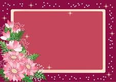 Marco floral para el texto Fotografía de archivo libre de regalías