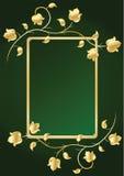 Marco floral para el texto. Verde Imagenes de archivo