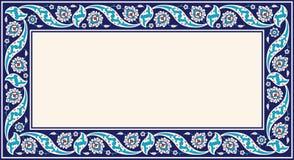 Marco floral para su diseño Ornamento turco tradicional del otomano del ½ del ¿del ï Iznik stock de ilustración