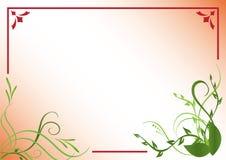 Marco floral rojo y verde Foto de archivo libre de regalías