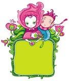 Marco floral romántico stock de ilustración